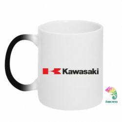 Кружка-хамелеон Kawasaki Logo - FatLine