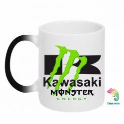 Кружка-хамелеон Kawasaki Monster Energy - FatLine