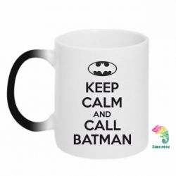 Кружка-хамелеон KEEP CALM and CALL BATMAN