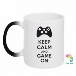 Кружка-хамелеон KEEP CALM and GAME ON