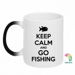 Кружка-хамелеон Keep Calm and go fishing - FatLine
