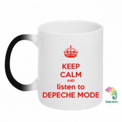 Кружка-хамелеон KEEP CALM and LISTEN to DEPECHE MODE