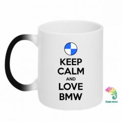 Кружка-хамелеон Keep Calm and Love BMW