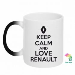 Кружка-хамелеон KEEP CALM AND LOVE RENAULT