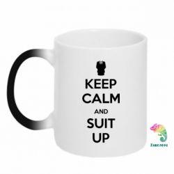 Кружка-хамелеон Keep Calm and suit up!