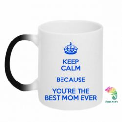 Кружка-хамелеон KEEP CALM because you're the best mom ever
