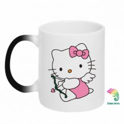Кружка-хамелеон Kitty амурчик - FatLine