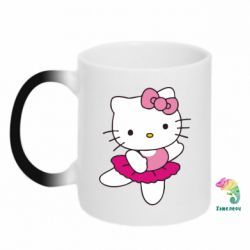 Кружка-хамелеон Kitty балярина - FatLine