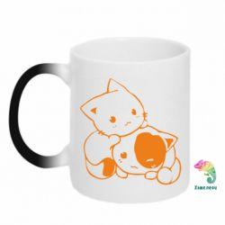Кружка-хамелеон кошенята - FatLine