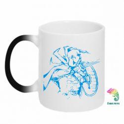 Кружка-хамелеон Козак з щитом