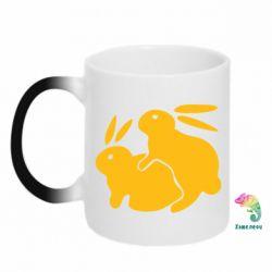 Кружка-хамелеон Кролики - FatLine