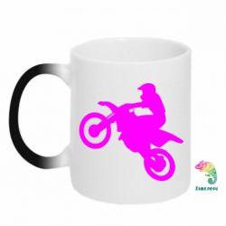 Кружка-хамелеон Кроссовый мотоцикл