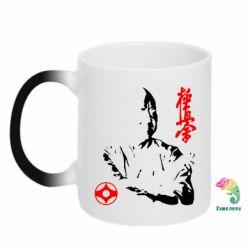 Кружка-хамелеон Kyokushin Kanku logo - FatLine