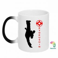 Кружка-хамелеон Kyokushin Kick