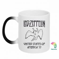 Кружка-хамелеон Led Zeppelin United States of America 77