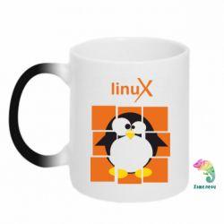 Кружка-хамелеон Linux pinguine - FatLine