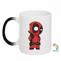 Кружка-хамелеон Little Deadpool - FatLine