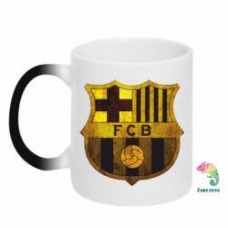 Кружка-хамелеон Логотип Барселоны - FatLine