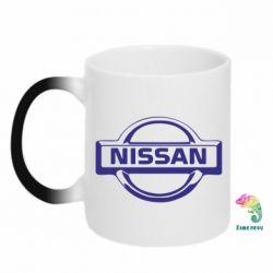 Кружка-хамелеон логотип Nissan - FatLine