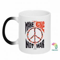 Кружка-хамелеон Make love, not war - FatLine