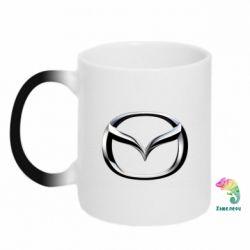 Кружка-хамелеон Mazda 3D Small Logo - FatLine