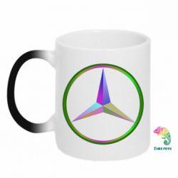 Кружка-хамелеон Mercedes Logo Art - FatLine