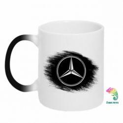 Кружка-хамелеон Мерседес арт, Mercedes art