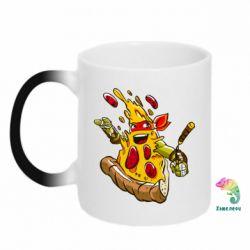 Кружка-хамелеон Микеланджело кусок пиццы - FatLine