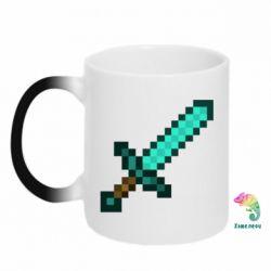 Кружка-хамелеон Minecraft меч - FatLine