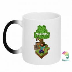 Кружка-хамелеон Minecraft Steve