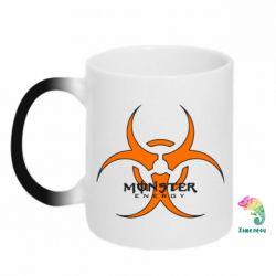 Кружка-хамелеон Monster Energy Biohazard