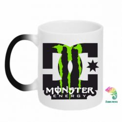 Кружка-хамелеон Monster Energy DC