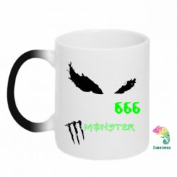 Кружка-хамелеон Monster Energy Eyes 666