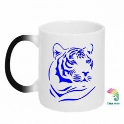 Кружка-хамелеон Морда тигра - FatLine