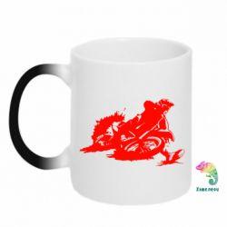 Кружка-хамелеон Мотокросс лого - FatLine