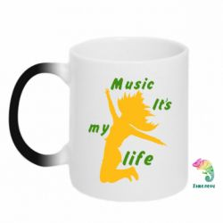 Кружка-хамелеон Music it's my life - FatLine