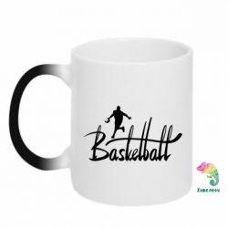 Кружка-хамелеон Надпись Баскетбол - FatLine