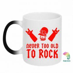 Кружка-хамелеон Never old to rock (Gomer) - FatLine
