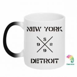 Кружка-хамелеон New York Detroit