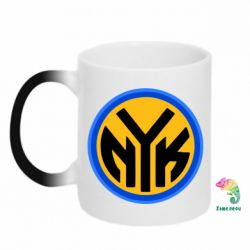 Кружка-хамелеон New York Knicks logo