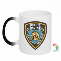 Кружка-хамелеон New York Police Department