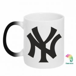 Кружка-хамелеон New York yankees