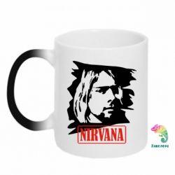 Кружка-хамелеон Nirvana Kurt Cobian - FatLine