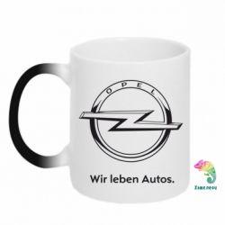 Кружка-хамелеон Opel Wir leben Autos