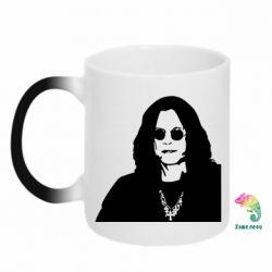 Кружка-хамелеон Ozzy Osbourne face - FatLine