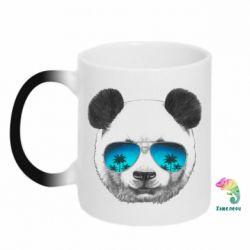 Кружка-хамелеон Панда в очках - FatLine