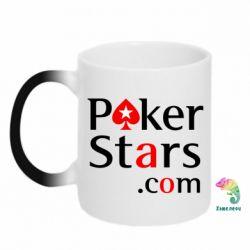 Кружка-хамелеон Poker Stars