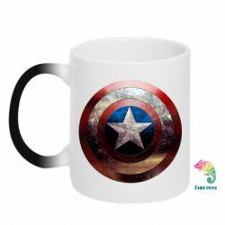Кружка-хамелеон Потрескавшийся щит Капитана Америка - FatLine