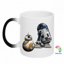 Кружка-хамелеон R2D2 & BB-8 - FatLine