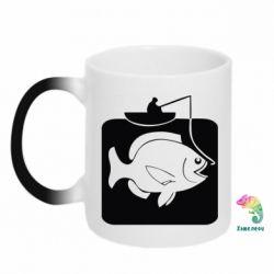 Кружка-хамелеон Рыба на крючке - FatLine